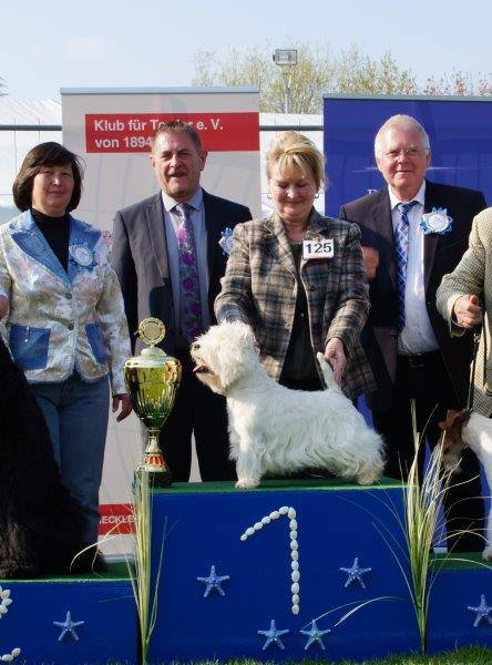 Marion and Alf Baltic Terrier Show BIS